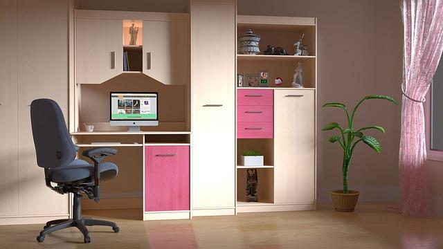 dětský pokojík, světle růžový