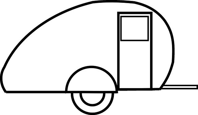 bílý karavan