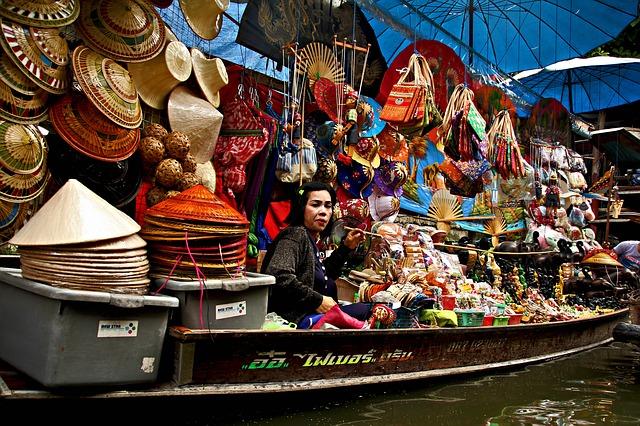 thajská prodavačka